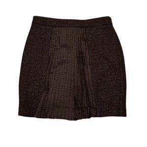 2B.Rych Wool Blend Pleated Pencil Skirt ANTHRO 10